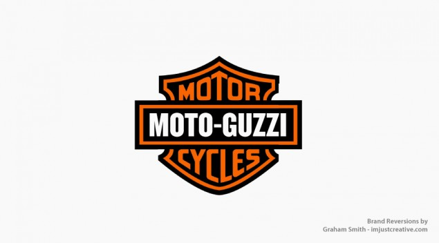 Brand Confusion? Brand Reversion by Graham Smith moto guzzi harley davidson reversion 635x352