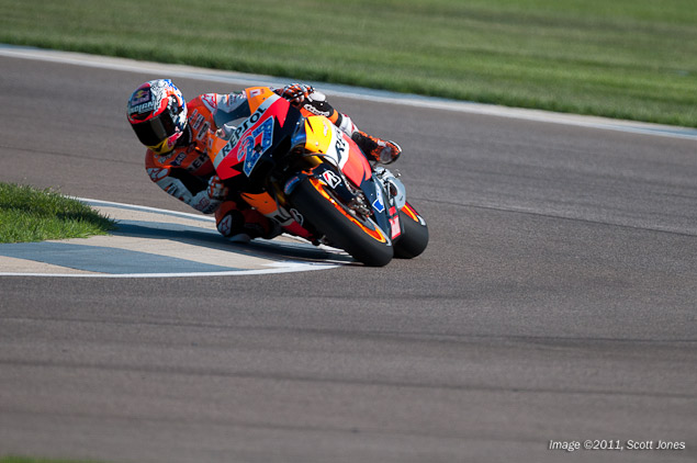 MotoGP: Mistakes Cost Several Riders at the Indianapolis GP Casey Stoner Indianapolis GP