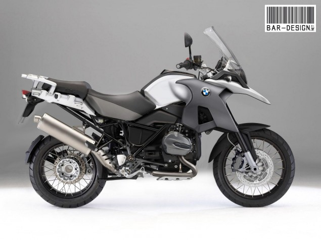 Rendered: 2012 BMW R1200GS 2012 BMW R1200GS water cooled render white 635x476