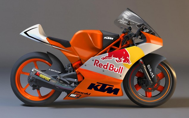 First Look: KTM Moto3 Race Bike 2012 KTM Moto3 race bike 1 635x396