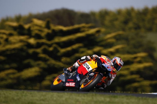 MotoGP: Qualifying Shows Some Surprises at Phillip Island Casey Stoner Qualifying MotoGP Phillip Island 635x421
