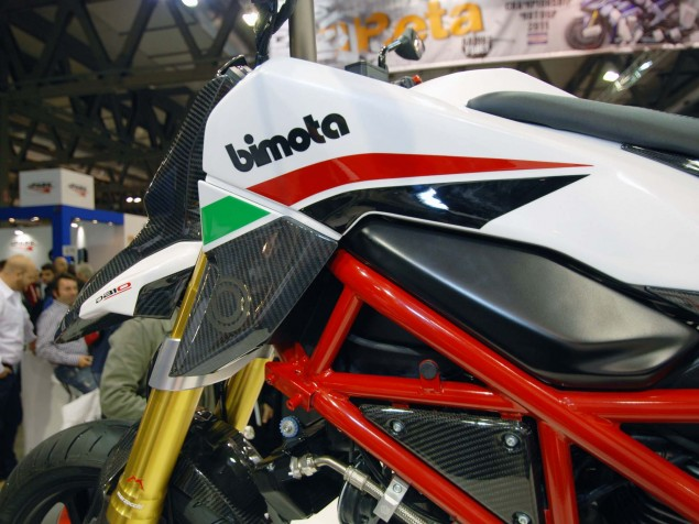 Up Close with the Bimota DB10 Bimotard Bimota DB10 Bimotard EICMA 111 635x476