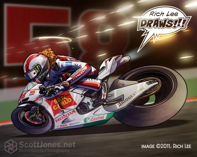 Rich Lee Draws Marco Simoncelli Marco Simoncelli Rich Lee Draws Scott Jones 635x508
