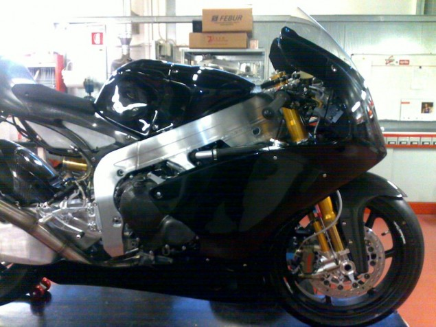 Photo: The Aprilia Moto2 Racer that Never Was Aprilia Moto2 race bike 635x476