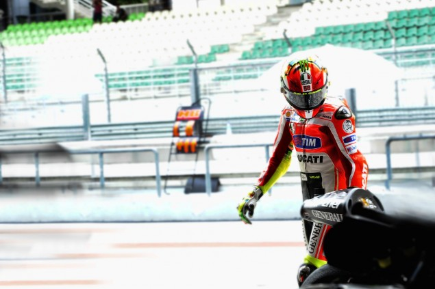 Caption This Photo: Meditations in an Emergency valentino rossi ducati corse sepang test stare 635x423