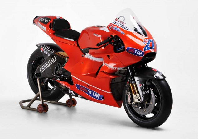 Stoner & Rossis Ducati MotoGP Bikes up for Auction Ducati Corse RM Auction Valentino Rossi GP10 CS1 02 635x447