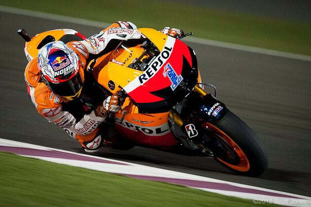 Casey Stoner Explains How to Slide a MotoGP Bike Casey Stoner Qatar GP 2012 Scott Jones