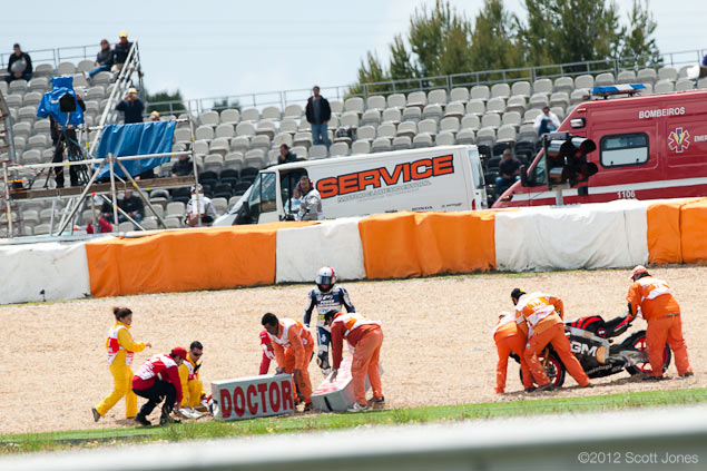 Colin Edwards Breaks Collarbone in Freak Crash At Estoril 2012 Portuguese GP Estoril Saturday Scott Jones 4
