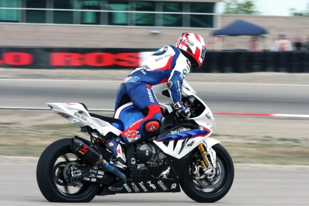 WSBK: Dry Conditions Prevail for Cold Qualifying at MMP Leon Haslam flat tire Miller Motorsports Park 635x423