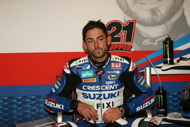 WSBK: Hopkins Breaks Foot   Will Miss Donington Park john hopkins crescent fixi suzuki 635x423