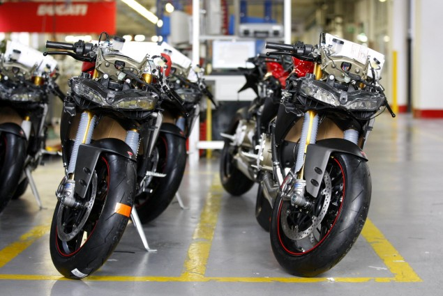 Ducati Production Delayed Due to Earthquake Devastation Ducati 1199 Panigale production 635x425