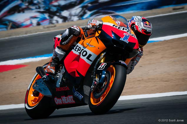 MotoGP: Crashes Define Race at Laguna Seca Casey Stoner MotoGP Laguna Seca Scott Jones