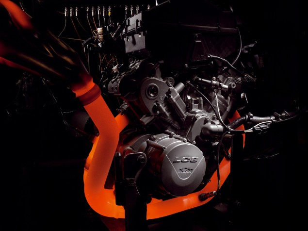 KTM Sells 50,000+ Motorcycles in the First Half of 2012 KTM glowing headers 635x476