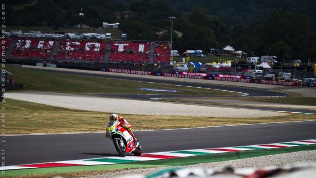 Saturday Summary at Mugello: Of Empty Stands, Spanish Domination, & Future Superstars Mugello Italian GP MotoGP Saturday Jules Cisek 06 635x357