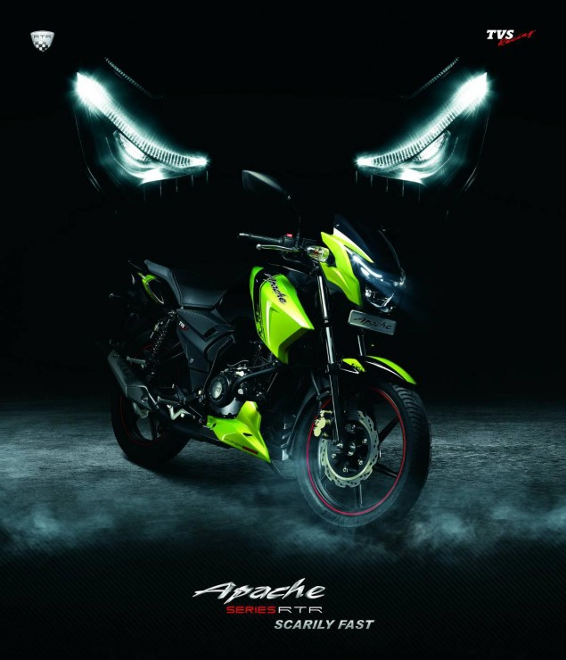 Indias TVS is in Talks with BMW Motorrad tvs apache green 635x740
