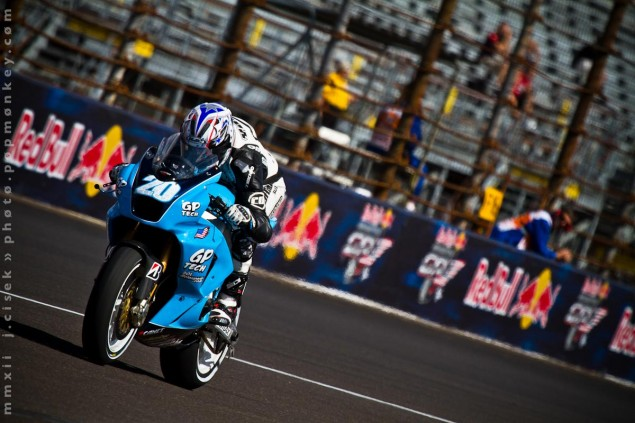 A Lap Around Indy with the GP Tech CRT Bike GP Tech Aaron Yates Indianapolis GP Jules Cisek 635x423
