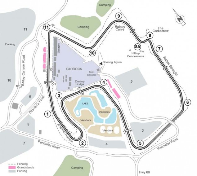 Laguna Seca Returns to the World Superbike Calendar Laguna Seca track map 01 635x568