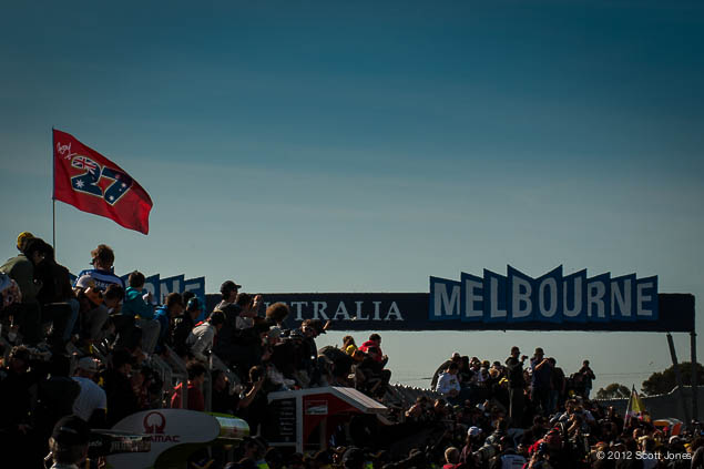 Sunday Summary at Phillip Island: Of Champions, Home Crowds, & Past Glory 2012 MotoGP 17 Phillip Island Sunday 0806