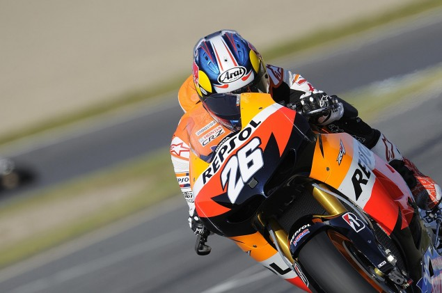 Friday Summary at Motegi: Of Conspiracy Theories, Unnecessary Assistance, & Hot Brakes Dani Pedrosa 2012 Japanese MotoGP FP2 635x421