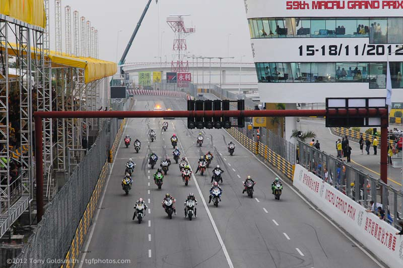 Video: Ride the Macau GP with Horst Saiger 2012 Macau GP start Tony Goldsmith