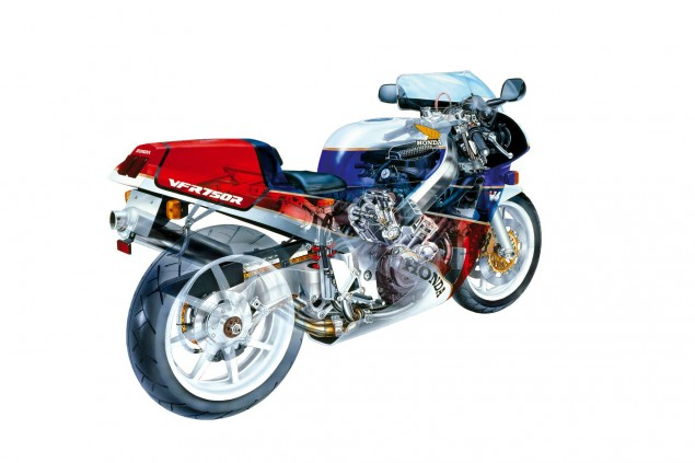 Honda RC213 V4 Street Bike to Cost $100,000+ Honda RC30 cutaway drawing 635x423