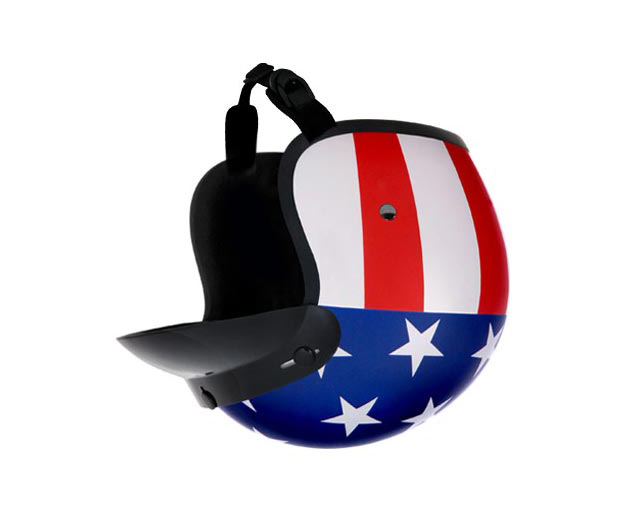 How Much Does a Motorcycle Crash Cost? american flag helmet upside down