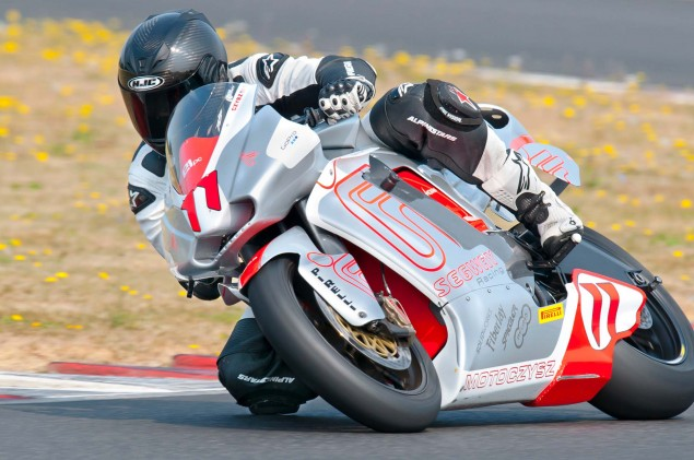A Year in Review with Asphalt & Rubber: 2012 MotoCzysz E1pc test PIR 07 635x421