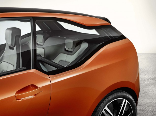 Brain Teaser: The BMW i3 Electric Car Will Have an Optional Gas Powered Motorcycle Engine in It BMW i3 concept 06 635x475