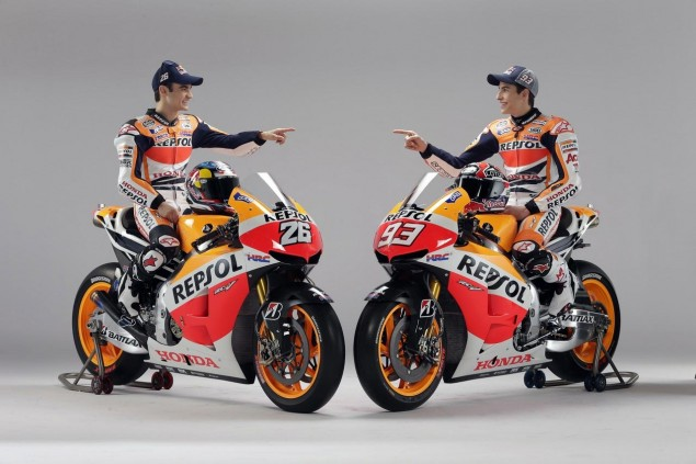 Caption This Photo: Twins Dani Pedrosa Marc Marquez Repsol Honda RC213V 635x423