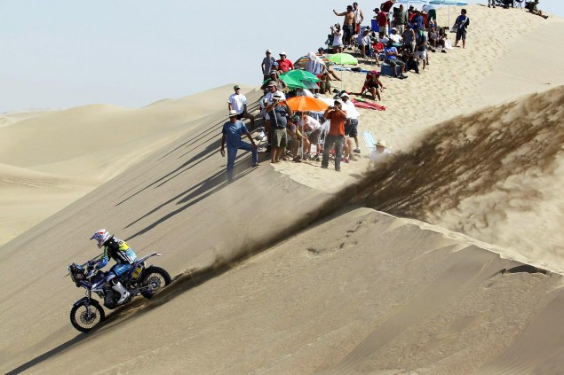 Dakar Rally   Stage 6: Yamaha Leads KTM into Chile Olivier Pain Yamaha Dakar Rally 635x423