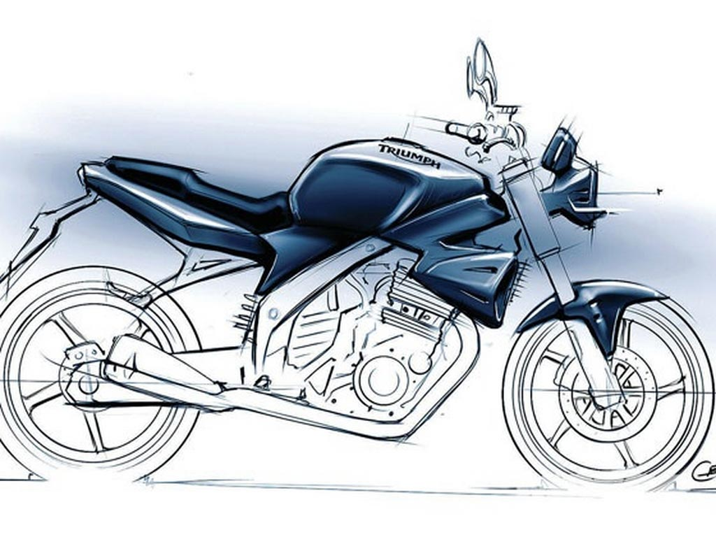Triumph Distributor Confirms 250cc Model for Asia Triumph 250cc sketch