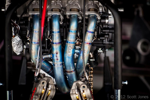 January 2013: The MotoGP & WSBK Story, So Far 2010 MotoGP Qatar exhaust headers Scott Jones 635x422
