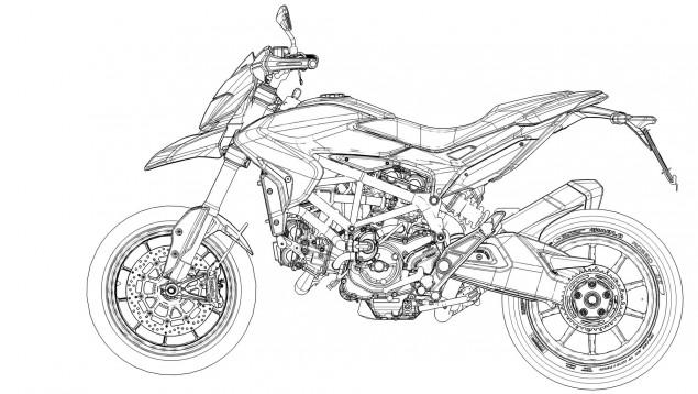 2013 Ducati Hypermotard Mega Gallery 2013 Ducati Hypermotard CAD drawings 18 635x358
