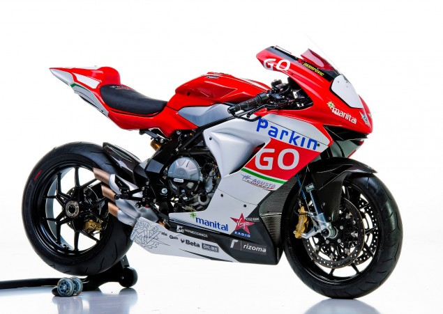 This is the MV Agusta Corse ParkinGO Supersport Race Bike MV Agusta F3 Corse Parkingo Team 635x451