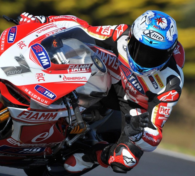 2013 WSBK Official Phillip Island Test Day 2 Times: Checa Takes Charge From Title Candidates carlos checa wsbk ducati alstare phillip island 635x573