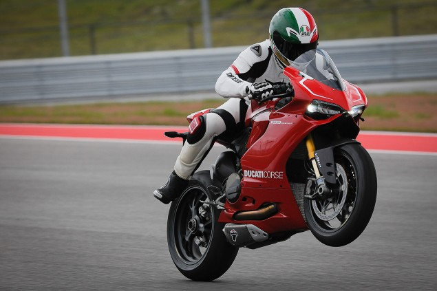 Lap the Circuit of the Americas on a Ducati 1199 Panigale R Ducati 1199 Panigale R wheelie Circuit of the Americas 635x423