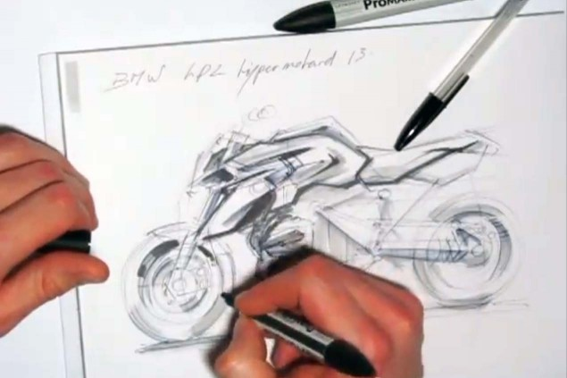 How Long Does it Take You to Draw a Motorcycle? Nicolas Petit HP2 Megamoto LC Concept 635x423
