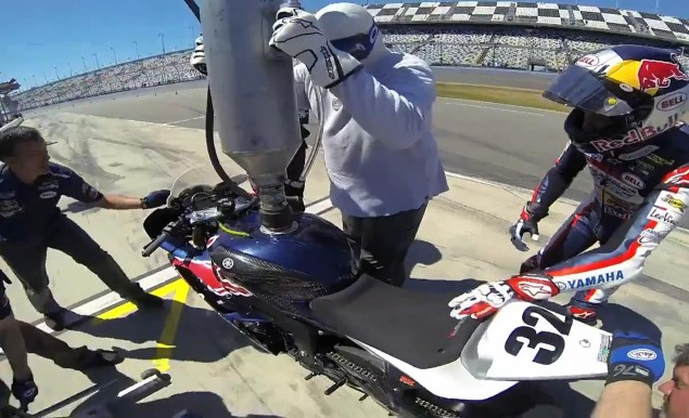 Watch Jake Gagne Do a Pitstop at the Daytona 200 jake gagne pit stop daytona 200 635x386