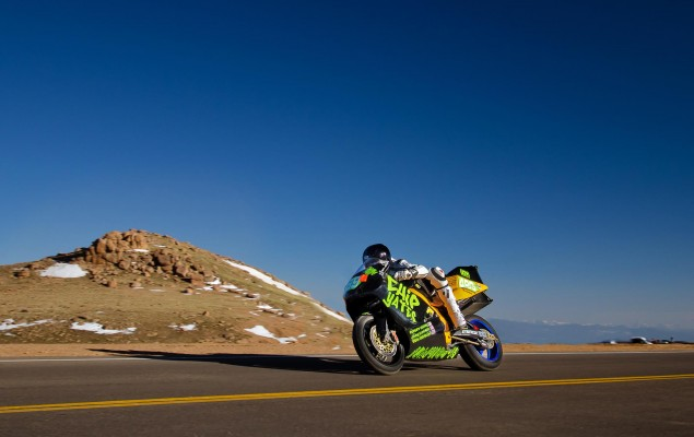 Chip Yates to Defend Electric Motorcycle Record at Pikes Peak International Hill Climb with Lightning Motorcycles Chip Yates Pikes Peak electric superbike 635x400