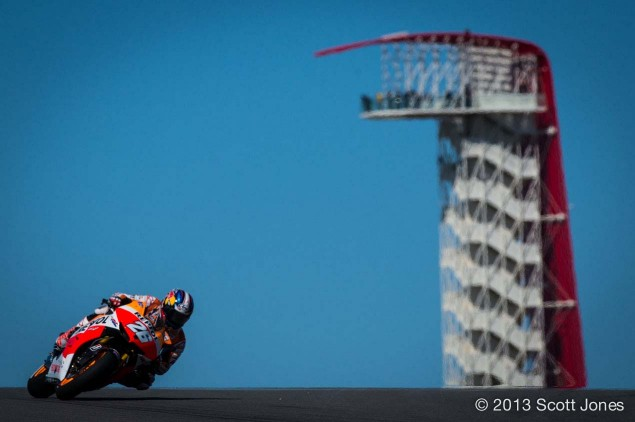 Friday Summary at Austin: Cold Sun, No Grip, Marquez, and the Qualifying Gamble Friday COTA MotoGP Scott Jones 12 635x422