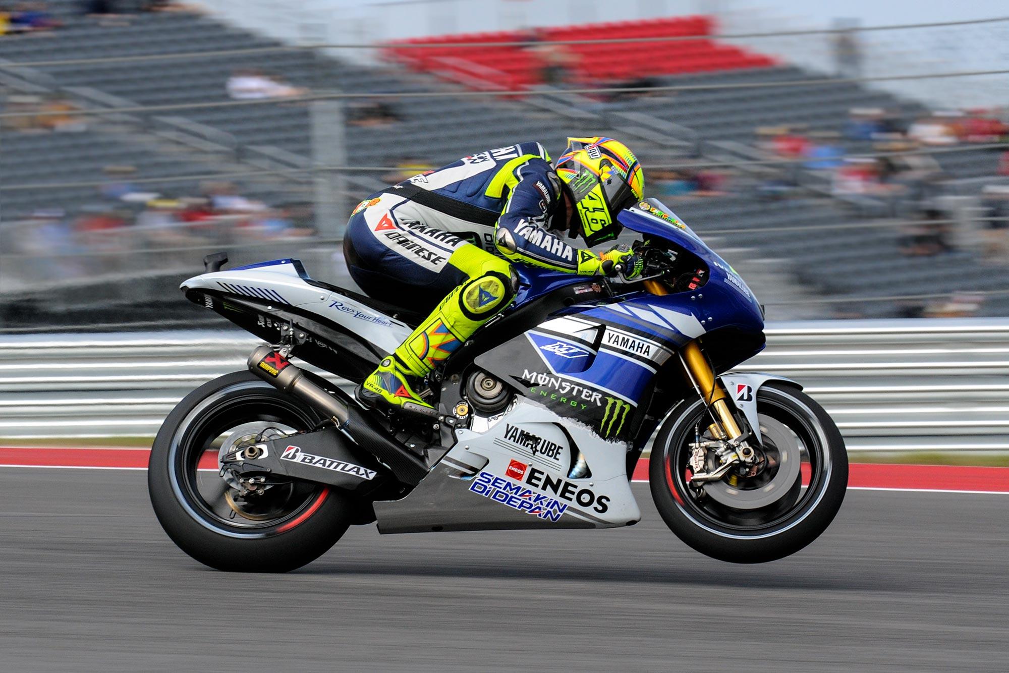 Up Close with the 2013 Yamaha YZR M1 Yamaha YZR M1 MotoGP Valentino ...