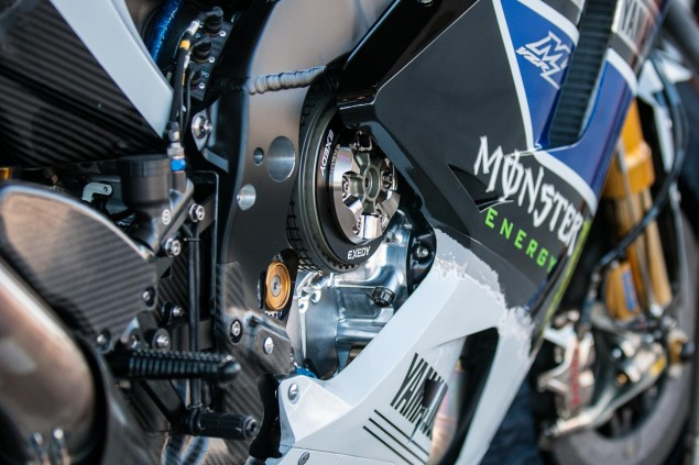 Up Close with the 2013 Yamaha YZR M1 Yamaha YZR M1 MotoGP Valentino Rossi Up Close 5 635x423