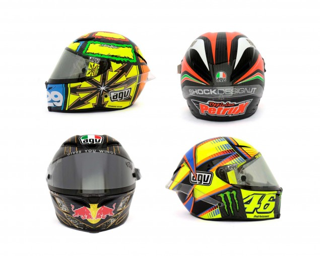 Photos: The Five AGV Pista GP Helmets in MotoGP agv pista gp helmets motogp 635x508