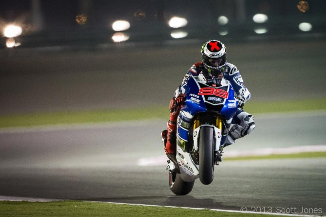 Trackside Tuesday: The Calm Before the Storm jorge lorenzo motogp yamaha racing qatar wheelie scott jones 635x422