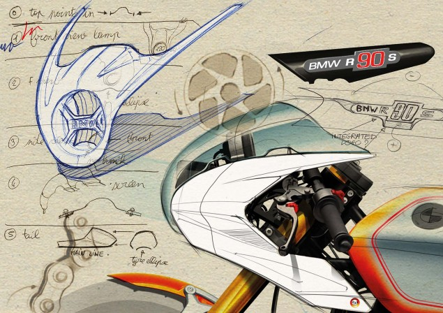 BMW Concept Ninety   Retro Meets Modern BMW Concept Ninety sketches 01 635x448