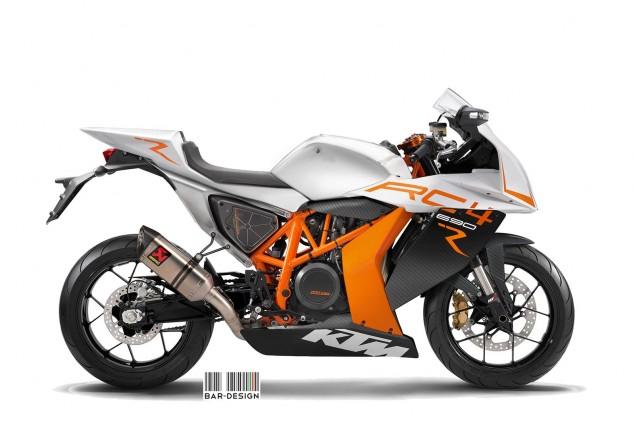 KTM RC4 Concept by Luca Bar Design KTM RC4 690 R concept Luca Bar Design 635x427