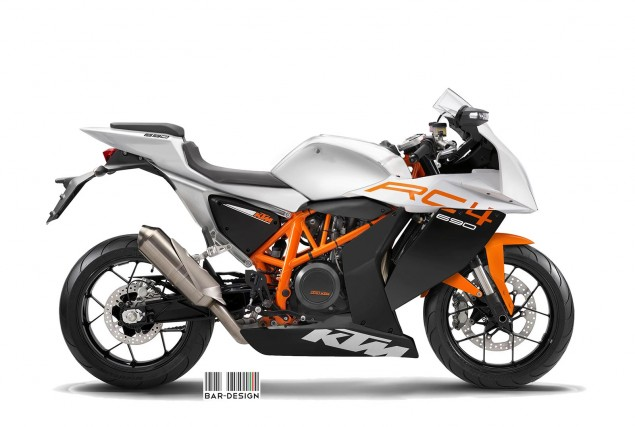 KTM RC4 Concept by Luca Bar Design KTM RC4 690 concept Luca Bar Design 635x427
