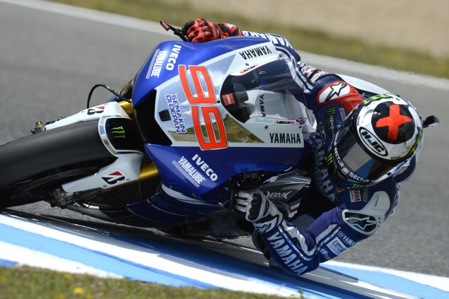 Friday Summary at Jerez: Yamaha vs. Honda, Or Going Just as Fast in Two Very Different Ways jorge lorenzo motogp jerez yamaha racing 635x423