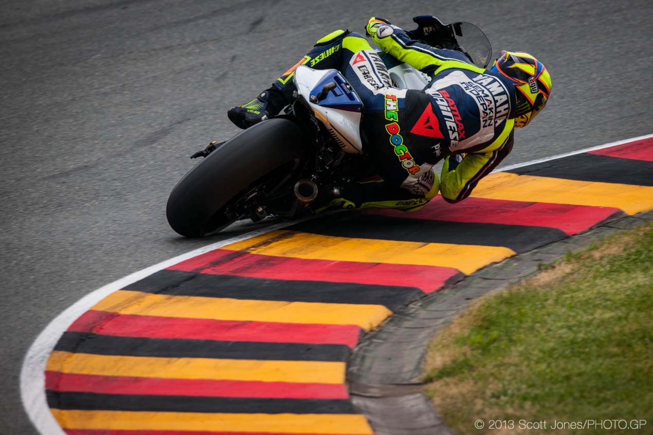 Saturday Summary at Sachsenring: Pedrosas Collarbone, A Hot Rodded Rossi, & Asymmetric Tires Saturday Sachsenring German GP MotoGP Scott Jones 11 635x423
