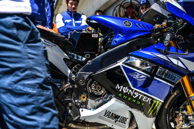MotoGP: FIM Confirms New Rules for Factory/Non Factory Spec Electronics, Engine, Fuel, & Entries for 2014 yamaha yzr m1 no tank cover jensen beeler 635x423